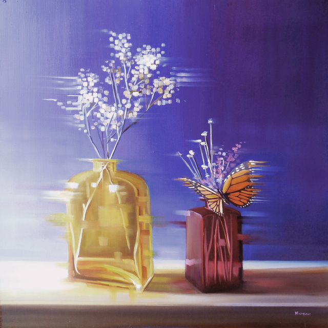 , 'Violet and Gold,' 2014, Abend Gallery