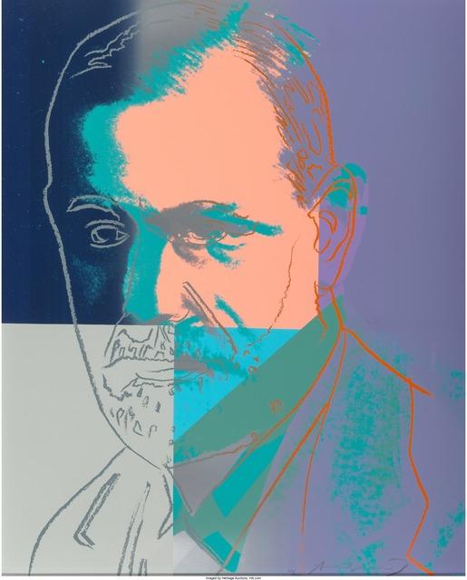 Andy Warhol, 'Sigmund Freud, from the portfolio Ten Portraits of Jews of the Twentieth Century', 1980, Heritage Auctions