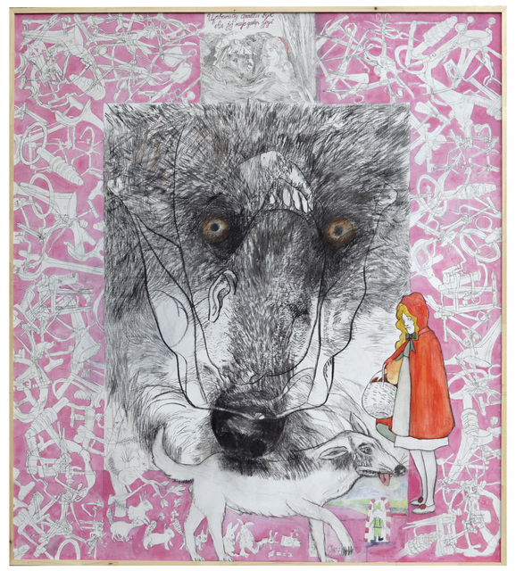 , 'The Wolf Strolls With Little Red Riding Hood, But He Is Not A True Friend,' 2018, Drina Gallery