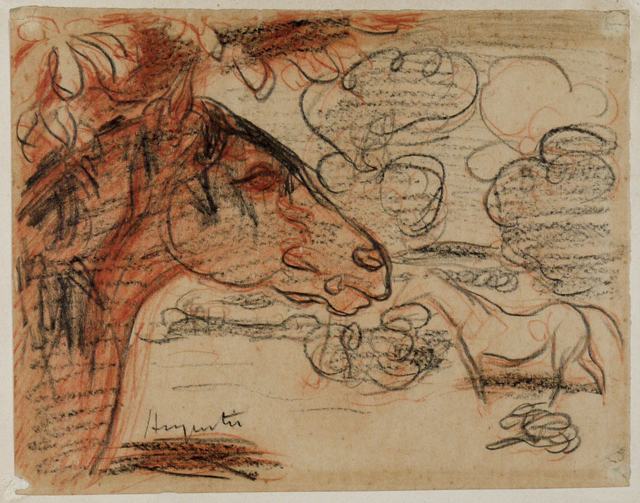 , 'Horses and clouds study,' ca. 1891, SERGE PLANTUREUX
