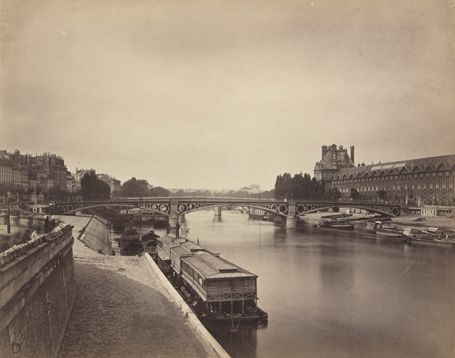 Gustave Le Gray, 'The Pont du Carrousel, Paris: View to the West from the Pont des Arts', 1856-1858, National Gallery of Art, Washington, D.C.