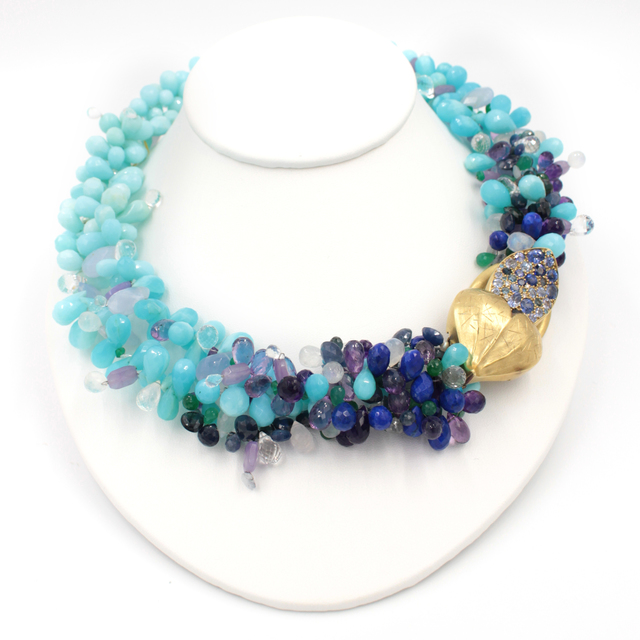 , 'Peruvian Opal Signature Necklace,' , form & concept