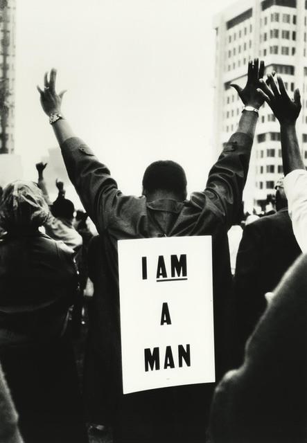 , 'I am a Man, Memphis, Tennessee,' 1968, Howard Greenberg Gallery