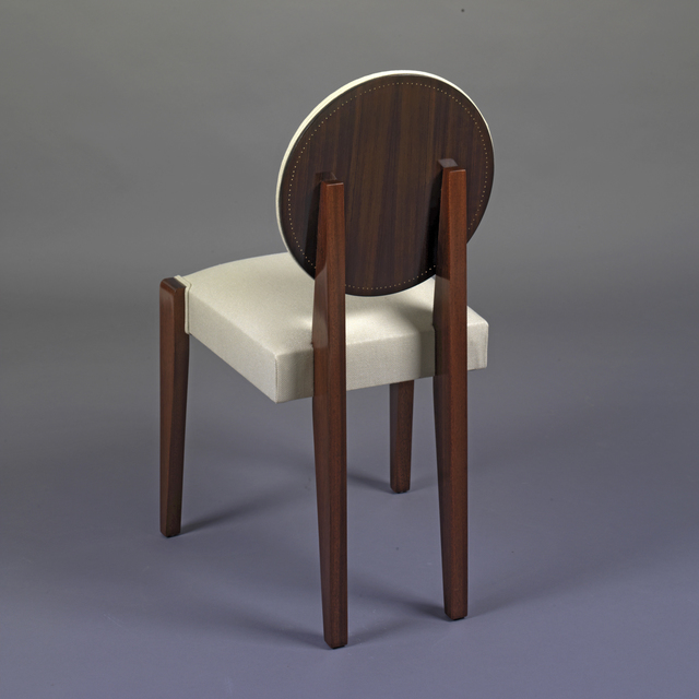 André Sornay, 'Eight chairs', ca. 1937, Design/Decorative Art, Rosewood with brass nails and solid mahogany., Galerie Alain Marcelpoil