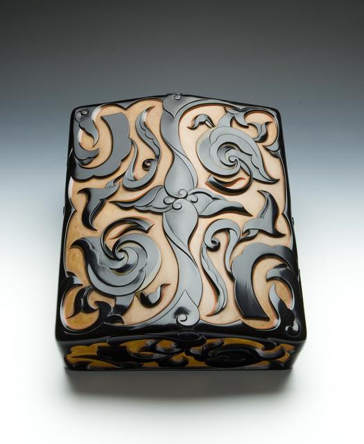 , 'Carved Lacquer Writing Box,' Showa era (1926, 89), ca. 1930's, Erik Thomsen