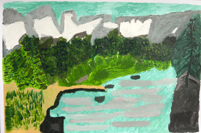 , 'River and Some Trees,' 2013, Fleisher/Ollman