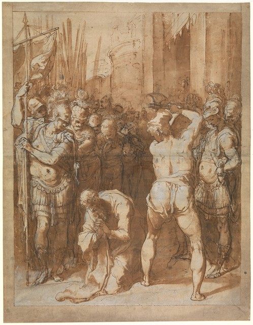Taddeo Zuccaro, 'The Martyrdom of Saint Paul', ca. 1557–1558, The Metropolitan Museum of Art
