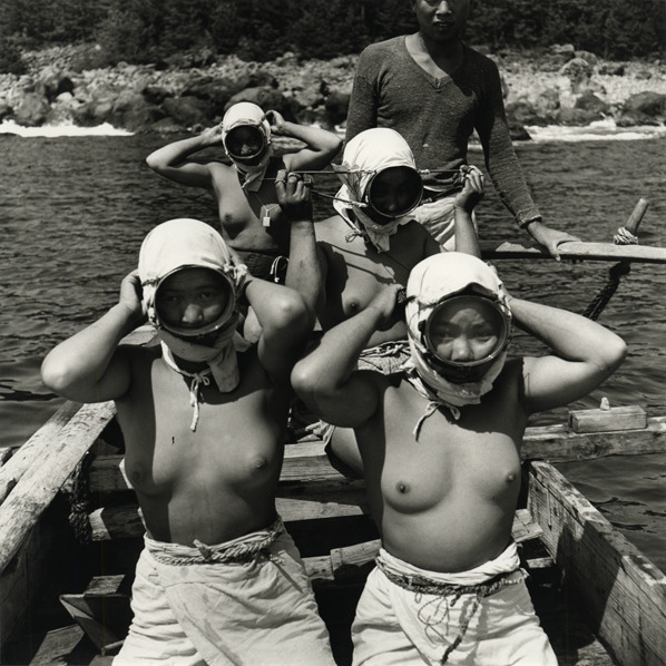 , 'Diving Girls of Hatsushiima Donning Masks before Diving, Japan,' 1946-printed later, Scott Nichols Gallery