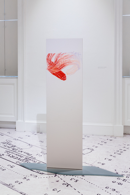 Eloise Hawser, 'Interior View (Cross Section from a Capillary Model)', 2018, Sculpture, Silkscreen on free-standing laminate panel with glass base, VI, VII