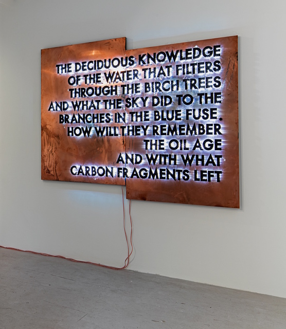, 'The Deciduous Knowledge (Copper Version),' 2016, Cob