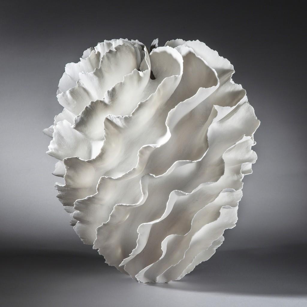 """Sandra Davolio, """"Sculptural Vase"""", 2015, Porcelain, C. 14 in. h x 10.5 in. diam"""