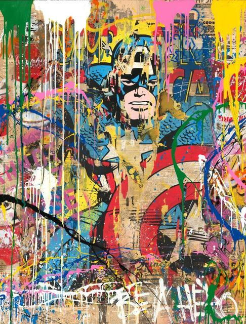 Mr. Brainwash, 'CAPTAIN AMERICA ', 2018, Kapopoulos Fine Arts