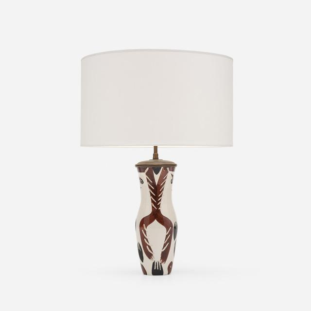 Pablo Picasso, 'Chouetton Table Lamp', 1952, Design/Decorative Art, White earthenware with engobe decoration, Rago/Wright