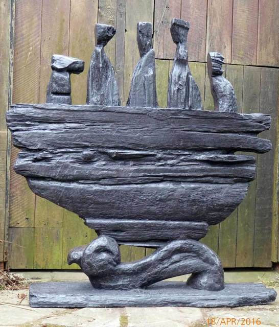 , 'Skellig Boatmen,' 2018, Catto Gallery