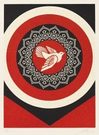 Shepard Fairey (OBEY), 'Dove Target Red', 2012, Vertu Fine Art