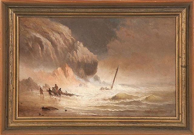 Charles Henry Gifford, 'Salvaging a Wreck', 1880, Plasteel Frames & Gallery