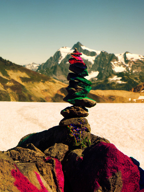 , 'Variation of Cairn on Ptarmigan Ridge with Mt. Shuksan in Background, B,' 2014, V1 Gallery