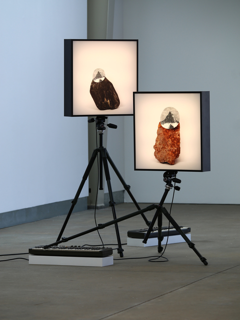 , 'a paradox in distance (inverted), #1 and #2,' 2014, di Rosa