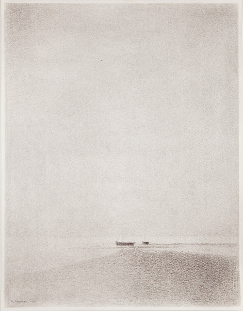 , 'Strandmotiv med bat (Beach Scene with Boat),' 1981, Pucker Gallery