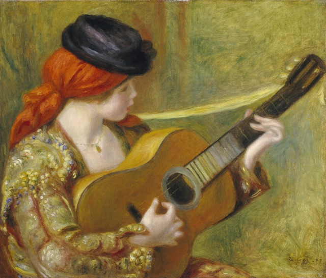 Pierre-Auguste Renoir, 'Young Spanish Woman with a Guitar', 1898, National Gallery of Art, Washington, D.C.