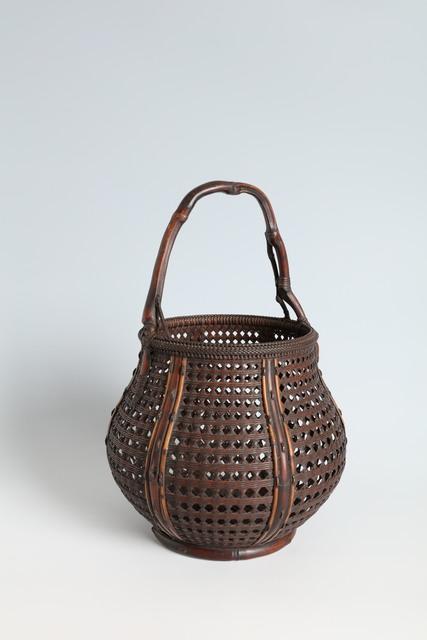 Maeda Chikubōsai I, 'Flower Basket with Natural Bamboo Handle (T-4130)', Showa era (1926–89), 1920s, 1930s, Erik Thomsen