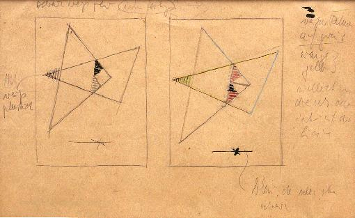 , 'Studies for Compositions No. 124 (right) and No. 125 (left) (D54),' c. 1941, Annely Juda Fine Art