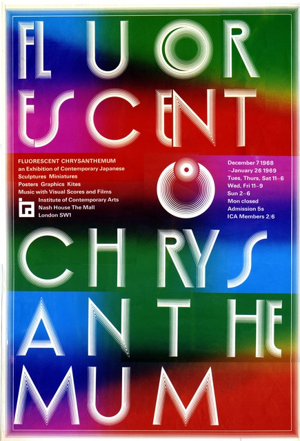 , 'Poster from Fluorescent Chrysanthemum, ICA,' 1968, ICA London