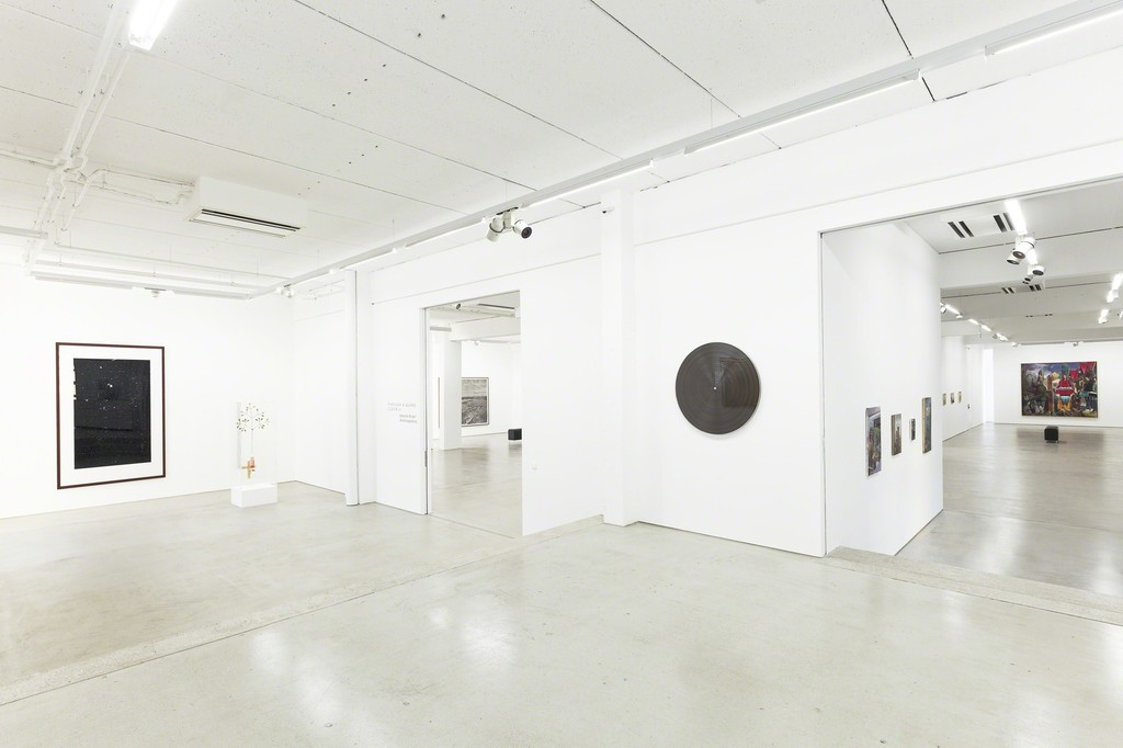 installation view G2 Kunsthalle, Hildebrand Collection, with art works by Thomas Ruff, Björn Dahlem, Gregor Hildebrand, Neo Rauch (in the background) and many other artists, photo: Dotgain © the artists & G2 Kunsthalle, Leipzig.