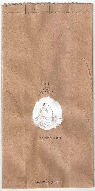 , 'this bag contains the matterhorn,' 2013, Project 88