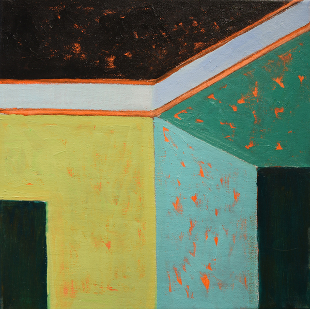 , 'Green House Corner 2,' 2018, Carter Burden Gallery
