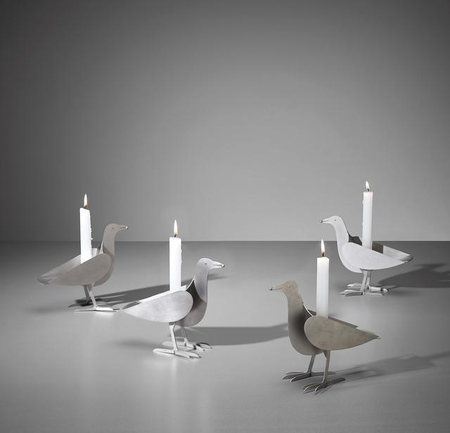 François-Xavier Lalanne, 'Set of four 'Oiseau d'Argent' candlesticks', ca. 1990, Phillips