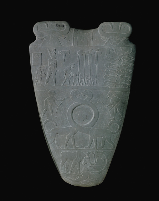 'The Palette of Narmer', ca. 3100 -3050 B.C., Sculpture, Siltstone, Erich Lessing Culture and Fine Arts Archive