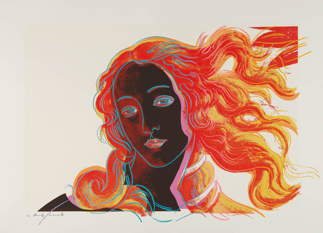 Andy Warhol, 'Sandro Botticelli, Birth of Venus, 1482, from Details of Renaissance Paintings', 1984, Print, Screenprint in colors, on Arches Aquarelle paper, with full margins, Phillips