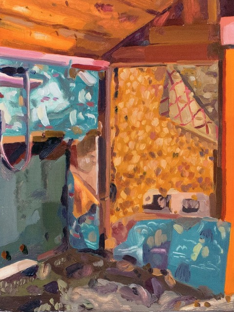, 'Shed Corner (gold wallpaper),' 2018, 1969 Gallery