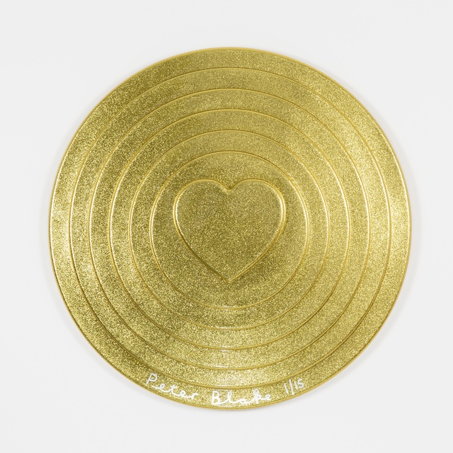 , 'Gold Target (metal flake),' 2017, Paul Stolper Gallery
