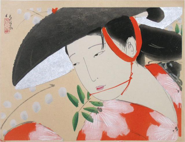 Kitano Tsunetomi, 'Wisteria Maiden ', 1959, Scholten Japanese Art