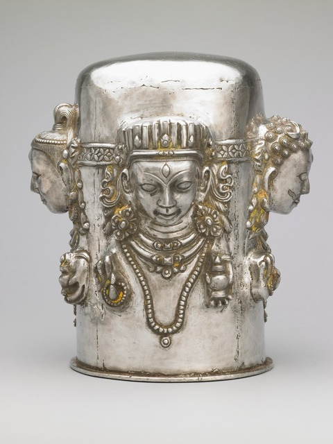 , 'Four-Faced Linga,' 19th century, Rubin Museum of Art