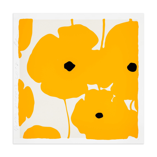 Donald Sultan, 'Yellow Poppies', 2018, MLTPL