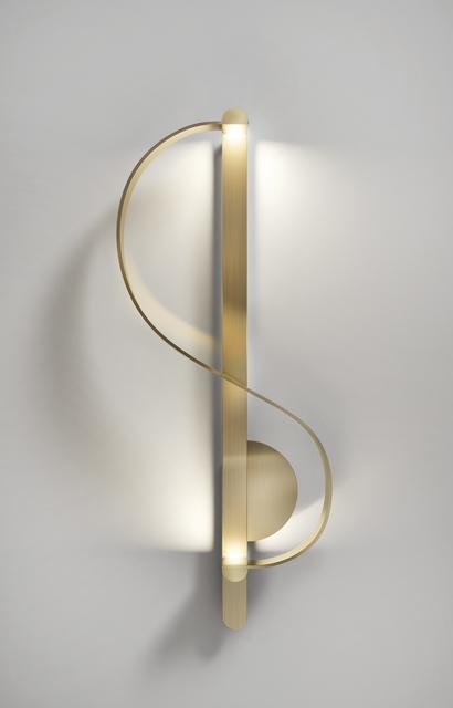 , 'Clé De Sol, a gilded sculptural sconce,' 2017, Galerie BSL