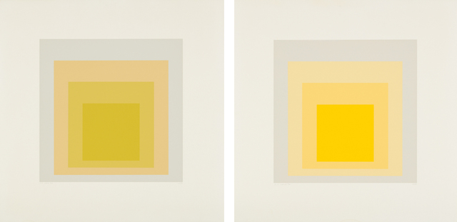 Josef Albers, 'I-S LXXIIIa; and I-S LXXIIIb', 1973, Phillips