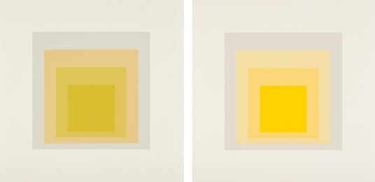 Josef Albers, 'I-S LXXIIIa; and I-S LXXIIIb,' 1973, Phillips: Evening and Day Editions (October 2016)