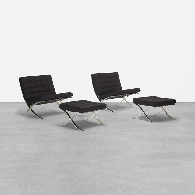 Strange Ludwig Mies Van Der Rohe Pair Of Barcelona Chairs And Caraccident5 Cool Chair Designs And Ideas Caraccident5Info