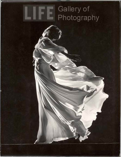 Gjon Mili, 'Model with Billowing Light Colored Sheer Nightgown and Peignoir (Face not Seen)', 1945, Contessa Gallery