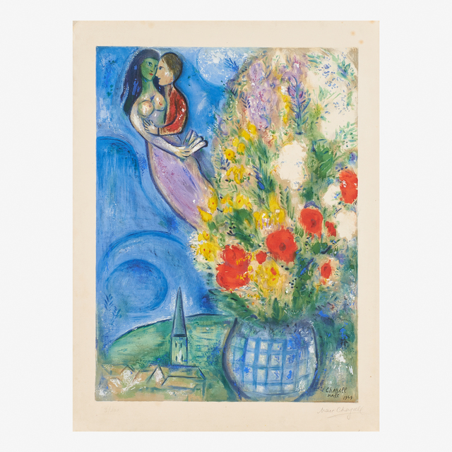 Marc Chagall, 'Les Coquelicots', 1949, Print, Lithograph in colors, Rago/Wright
