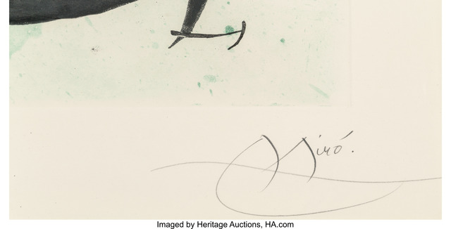 Joan Miró, 'L'ecartelee', 1970, Print, Etching and aquatint in colors, Heritage Auctions