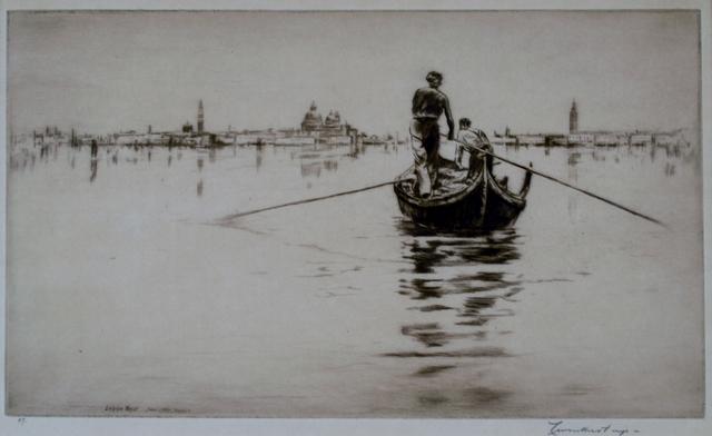 Levon West, 'Sandolo, Venice', 1931, Private Collection, NY
