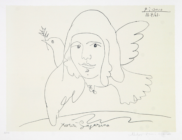 Pablo Picasso, 'Pour Youri Gagarine, 1961', 1979-1982, Print, Lithograph on Arches paper, RoGallery
