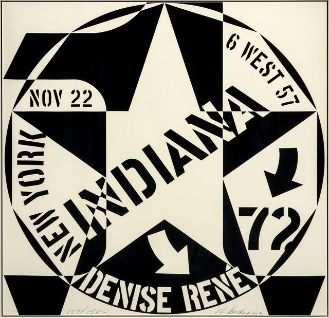 Robert Indiana, 'Galerie Denise Rene New York (a pair of works)', 1970, Hindman