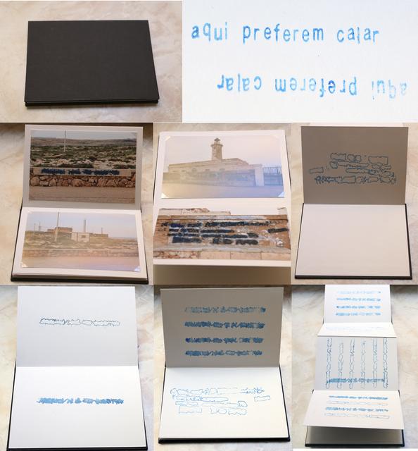 , 'Aqui preferem calar [Here, they prefer to silence] ,' 2015, Portas Vilaseca Galeria