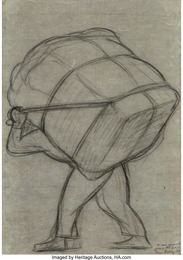 Untitled (Man with bale on his back)